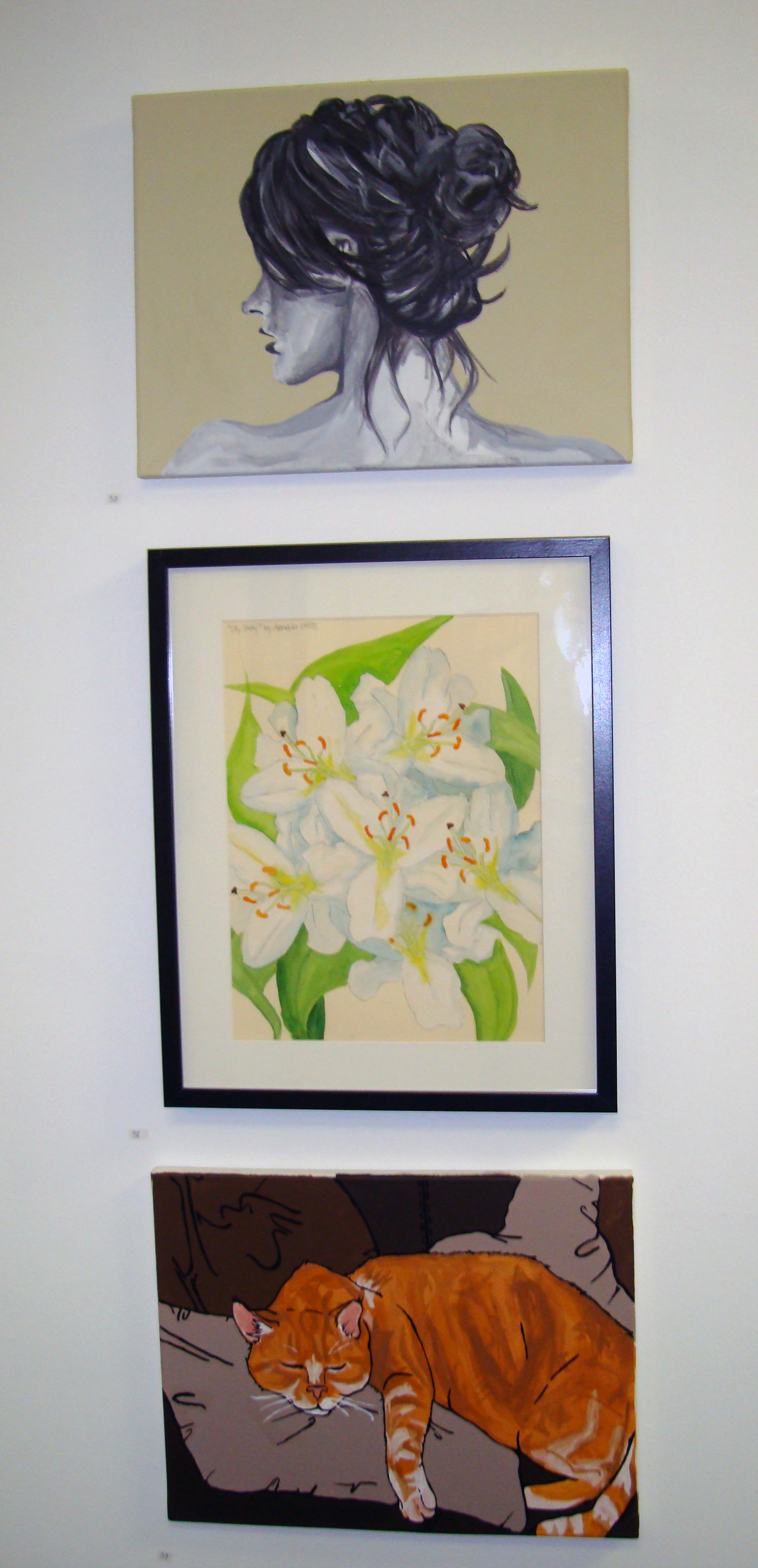 Charity Art Auction: Eva, Lilies & OJ